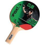 Fox Cub 1 Star Table Tennis Bat - Red
