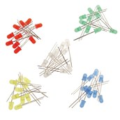 LED Indicators, 5mm: Mixed Colours - Pack of 50