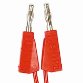 4mm Stackable Plug Leads: Red, 250mm - Pack of 50