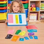 Double-Sided Magnetic Fraction Squares - Set 51