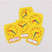 24 Hour Write On Wipe Off Clock Dials