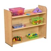 Maple Three Shelf Bookcase - Maple