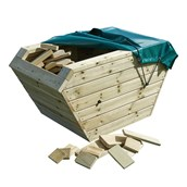 Outdoor Wooden Skip and Blocks with Cover
