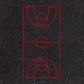Basketball Court Markings - 30x15m