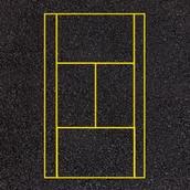 Tennis Court Markings - 23.7x10.9m