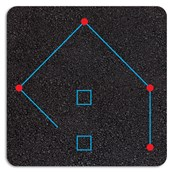 Rounders Pitch Markings - 21x18m