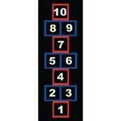 Outline Hopscotch Markings - 3.5x1m