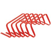 Precision Flat Hurdles - Red - 9in - Pack of 6