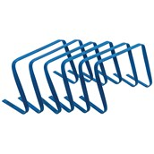 Precision Flat Hurdles - 12in - Blue - Pack of 6