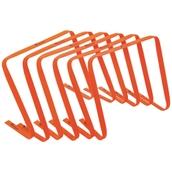 Precision Flat Hurdles - Orange- 15in - Pack of 6