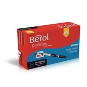 Berol Whiteboard Marker Pens Black, Bullet Tip - Pack of 192
