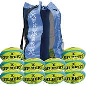 Gilbert G-TR4000 Training Rugby Ball - Fluo - Size 4 - Pack of 12
