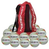 Gilbert APT Training Netball - Fluorescent - Size 4 - Pack of 12