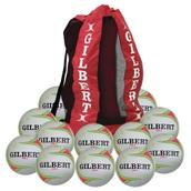 Gilbert APT Training Netball - Fluorescent - Size 5 - Pack of 12