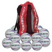 Gilbert APT Training Netball - Purple - Size 4 - Pack of 12