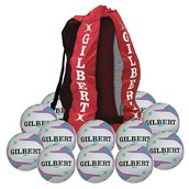 Gilbert APT Training Netball - Purple - Size 5 - Pack of 12
