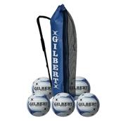 Gilbert Eclipse Match Netball - White/Blue - Size 4 - Pack of 5