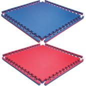 Beemat Reversible Tatami Jigsaw Mat - Blue/Red - 1m x 1m x 40mm