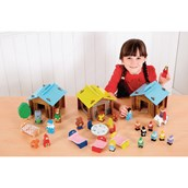 Wooden Storytelling Houses Special Offer - Pack of 3