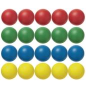 Foam Balls - Assorted - 70mm - Pack of 20