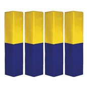 Rugby Post Pad - Blue/Yellow - 6in - Pack of 4