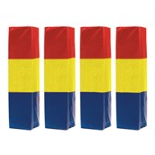 Rugby Post Pad - Red/Yellow/Blue - 6in - Pack of 4