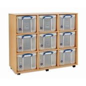 RUB Storage Unit 9x35L inc Boxes