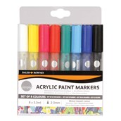 Daler Rowney Simply Acrylic Paint Markers - Assorted