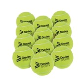 Davies Sports Practice Tennis Ball - Yellow - Pack of 12