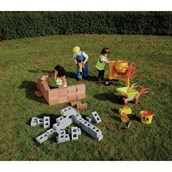 Bosch Accessories and 50 Pretend Foam House Bricks from Hope Education