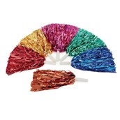 Glitter Pom Poms - Assorted - Pack of 6