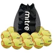 Mitre Expert Handball - Yellow/Orange - Size 3 - Pack of 12