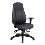 24hr Zeus Leather Faced Task Chair