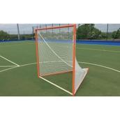 Harrod Sport Freestanding Competition Lacrosse Goals - Orange - Pair