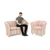 Stripey Tub Chair
