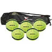 Precision Rio Indoor Football- Yellow/Black - Size 4 - Pack of 5