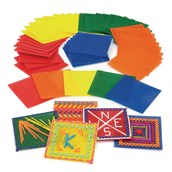 Coloured Plastic Mesh - Pack of 50