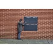 Outdoor/Indoor Lined Number Chalkboard