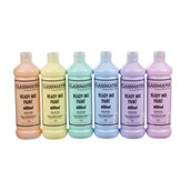 Classmates Ready Mixed Paint in Pastels - 600ml Bottle - Pack of 6