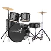 Rocket 5 Piece full size Drum Kit - Black
