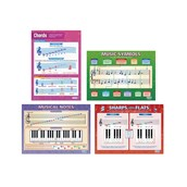 Pack of 4 - A1 Music Theory Posters