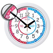 EasyRead Red and Blue Past To Wall Clock