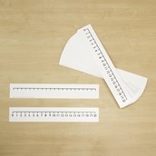 0-20 Blank Number Lines Pack of 30