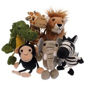 6 African Animal Finger Puppets