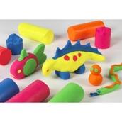 Soft Dough - Fluorescent Colours - Pack of 6