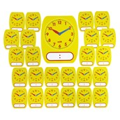 Classroom Write-On Wipe-Off Clock - Pack of 25