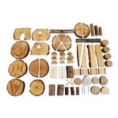 Natural Wood Creative Blocks - Pack of 70