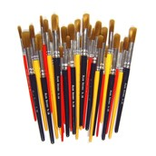 Golden Nylon Paint Brush Assorted Classpack - Pack of 30