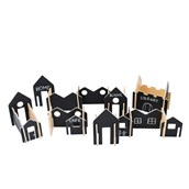 Happy Architect Chalkboard Create and Play Village - Pack of 28