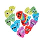 Monster Number Footprints - Pack of 40.